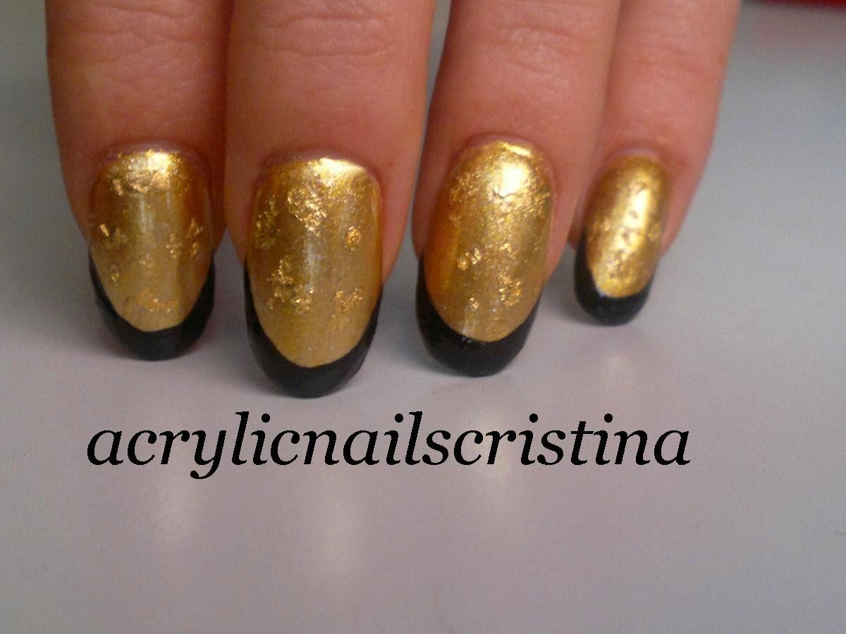 Acrylic Nails Pan De Oro Petición