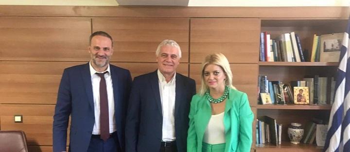 Συνάντηση της Δήμαρχου Ιστιαίας-Αιδηψού με τον αν. Υπουργό Αγροτικής Ανάπτυξης