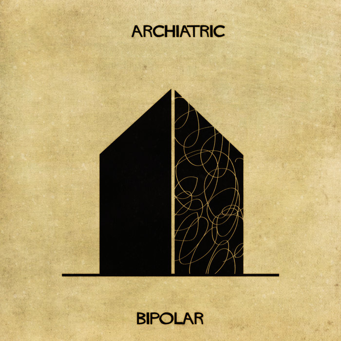 16 Mental Disorders Illustrated Through Architecture - Bipolar