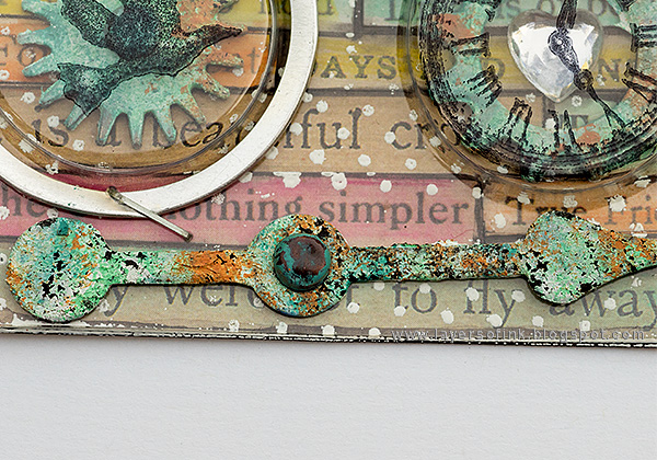 Layers of ink - Recycle Words ATC Tutorial by Anna-Karin with Tim Holtz ideaology
