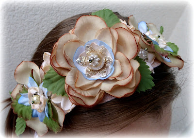 Wedding flower tiara