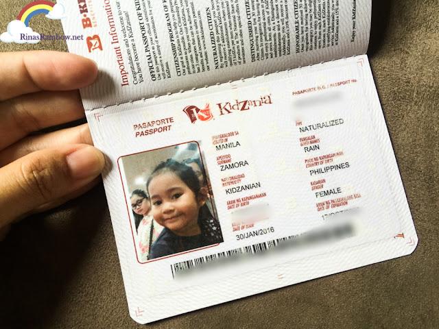 Kidzania Manila Passport
