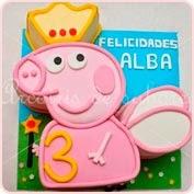 Tarta modelada Peppa Pig