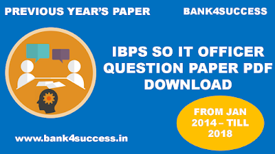 IBPS SO IT Officer Question Paper PDF Download