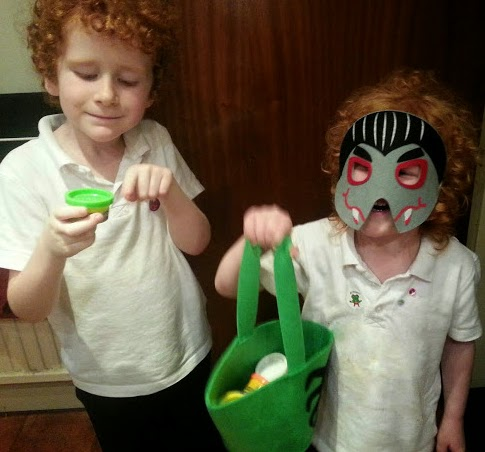 Halloween ALDI specialbuys review masks and loot bag