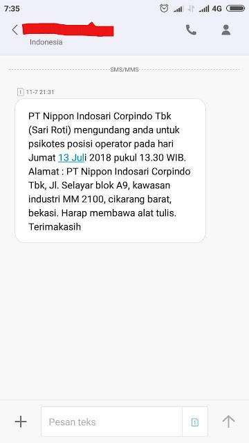 Info lowongan kerja terbaru Juli 2018 Pt Nippon Indosari Corpindo Operator Produksi untuk lulusan SMK/SMA