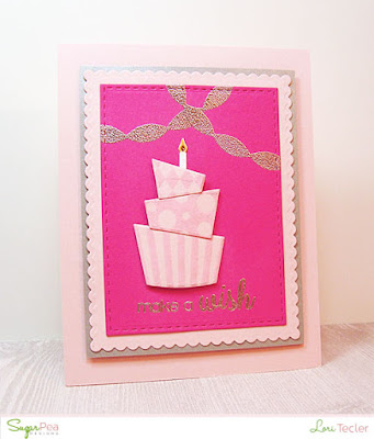Make a Wish card-designed by Lori Tecler/Inking Aloud-stamps and dies from SugarPea Designs