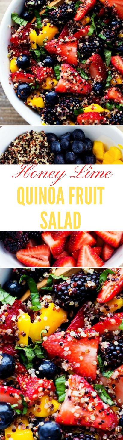 HONEY LIME QUINOA FRUIT SALAD #sald #recipe