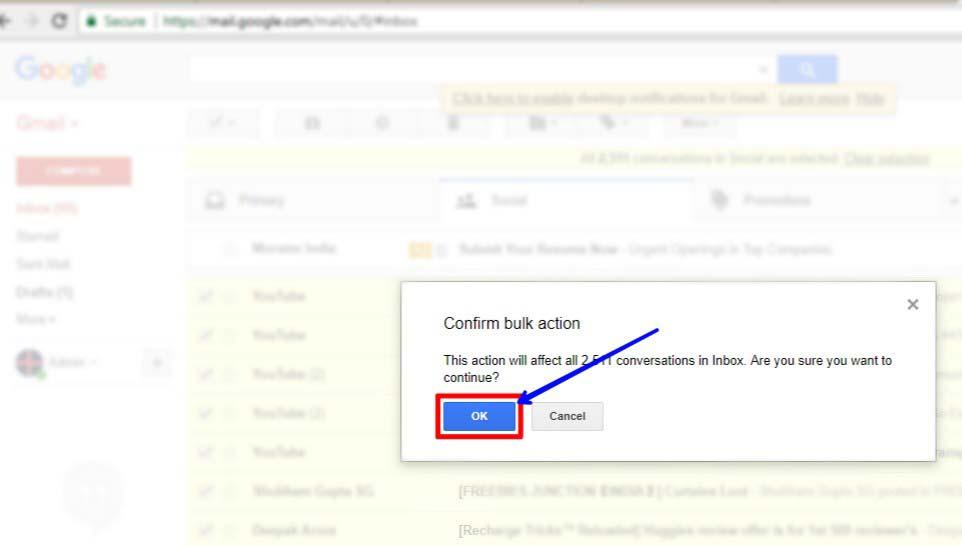 Email kaise delete kare