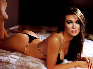 Carmen Electra On Bed In Lingerie