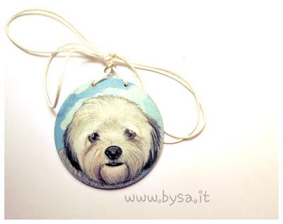 prezzi ritratti dipinti di cane su portachiavi