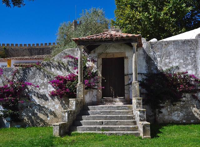 Garden in medieval Obidos in Portugal.