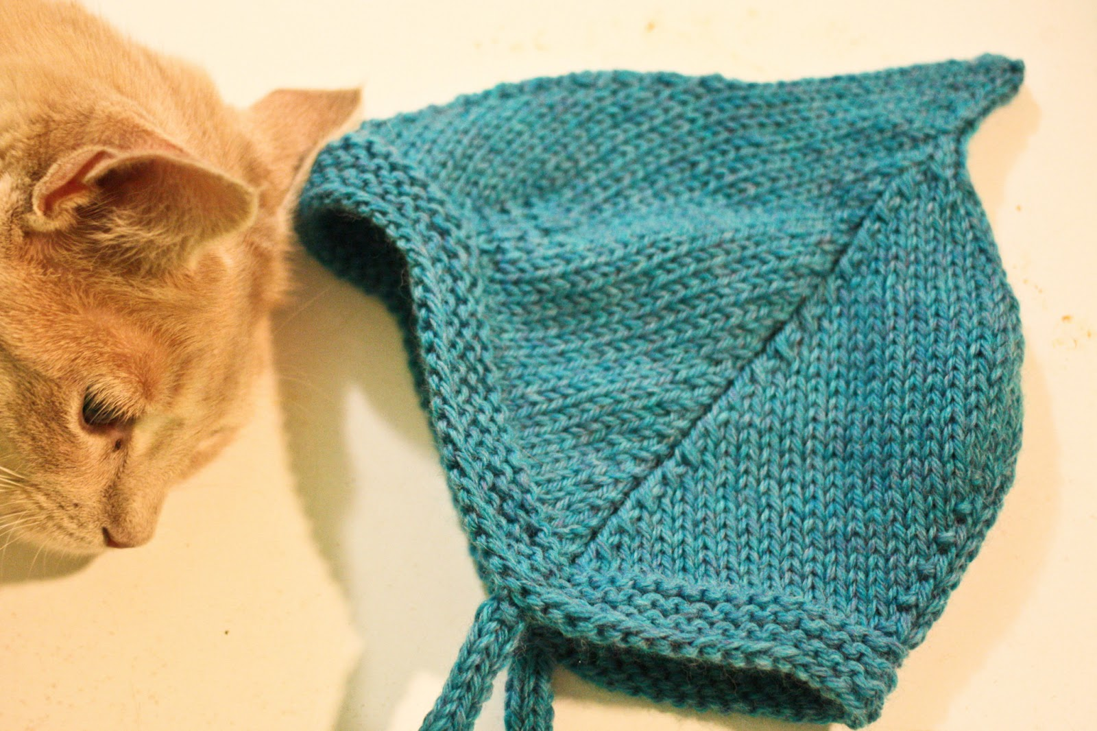 8f832835e28 Pattern Alfalfa Baby Hat by Kate Gagnon Yarn  Cascade 220 in  Turquoise  Heather
