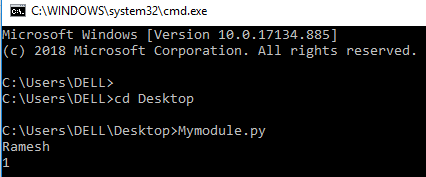 run python script from terminal