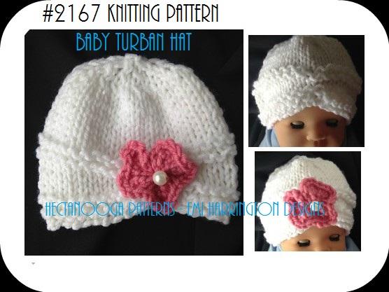 Hectanooga Patterns Free Knitting Pattern Baby Turban Hat
