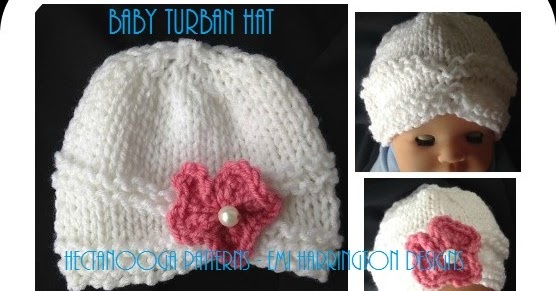 202de3835 HECTANOOGA PATTERNS: FREE KNITTING PATTERN- Baby Turban hat