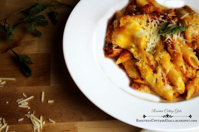 Picture of baked penne pasta rosevine cottage girls