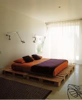 cama doble fácil hecha con palets