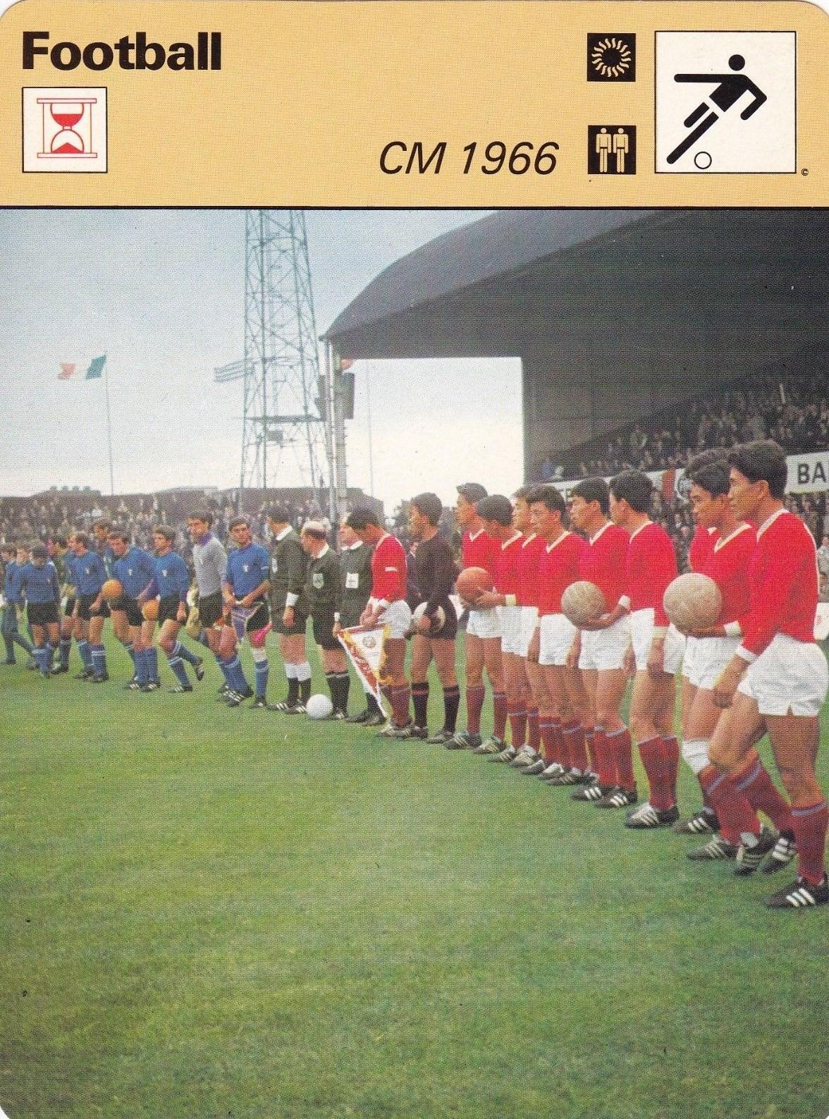 Football Yesterday & Today: Coupe du Monde 1966, la Corée du Nord bat l' Italie (Fiche Football)