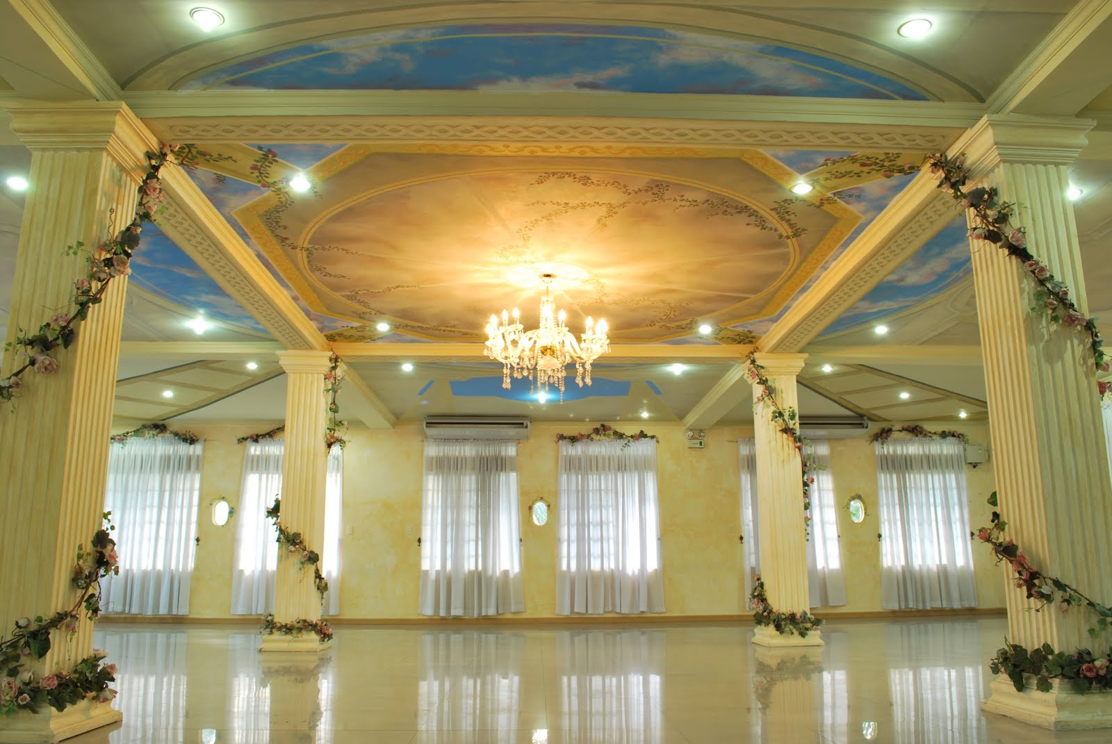 venue hall gardens events chandelier lobby gilded mirror grand opens gold