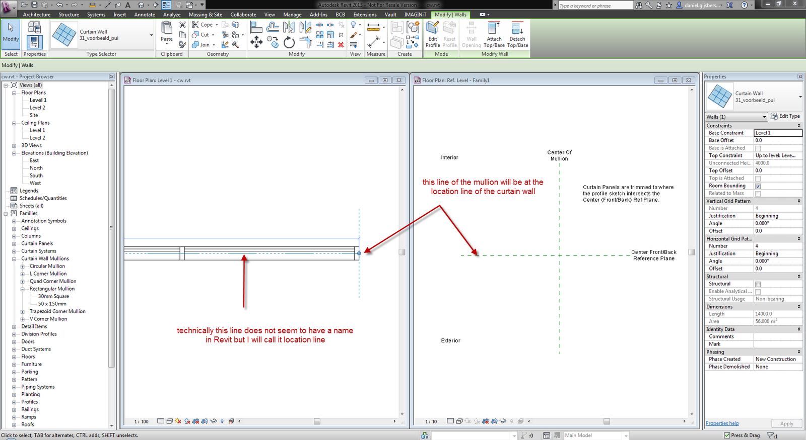 Change curtain wall thickness revit curtain menzilperde net for Curtain creator software