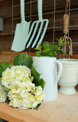 Create a Potting Bench in Coastal Colors