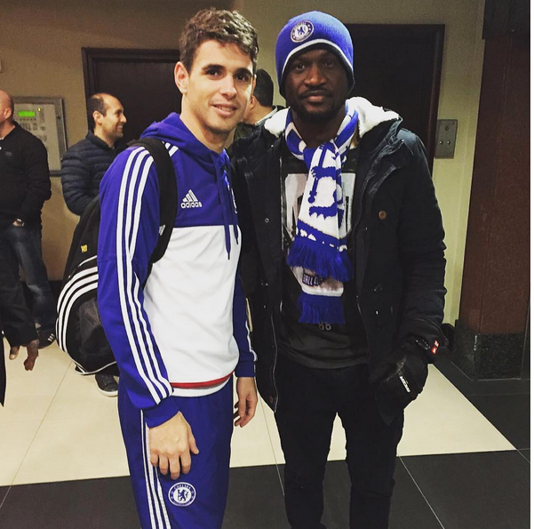 peter okoye and oscar of chelsea