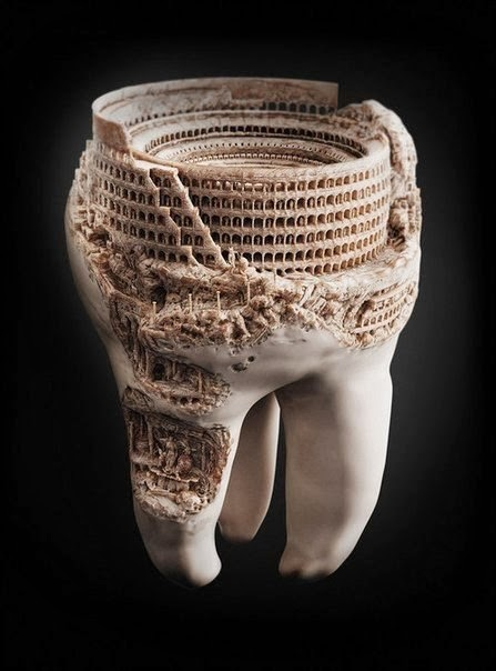 فن النحت على الأسنان