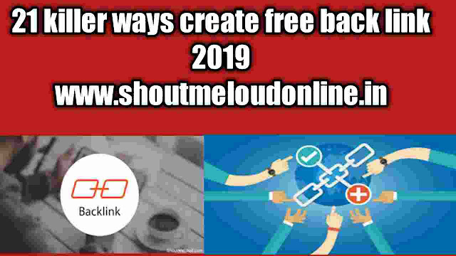 21 best create free backlink 2019