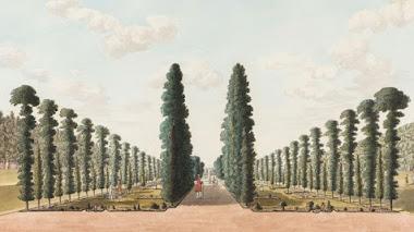 La emperatriz y el jardinero en Hampton Court