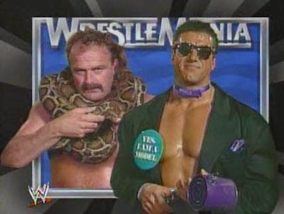 WWF / WWE - Wrestlemania 7: Jake 'The Snake' Roberts battled 'The Model' Rick Martel in a blindfold match