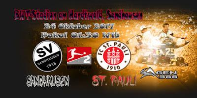 AGEN BOLA ONLINE TERBESAR - PREDIKSI SKOR BUNDESLIGA 2 JERMAN SANDHAUSEN VS ST. PAULI 24 OKTOBER 2017