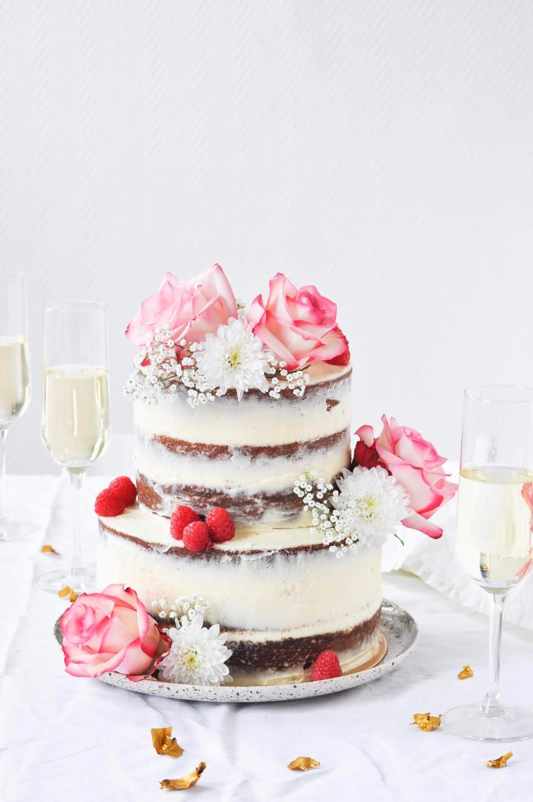 Rose And Raspberry Wedding Cake Un Gateau De Mariage A La