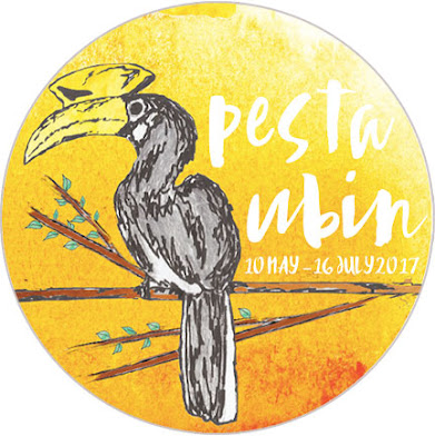 Pesta Ubin 2017 logo and badge