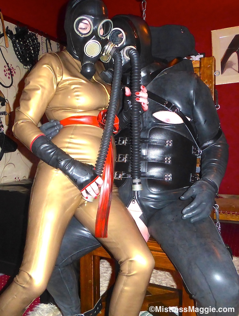 image Two mistresses use slave for tongue service femdom
