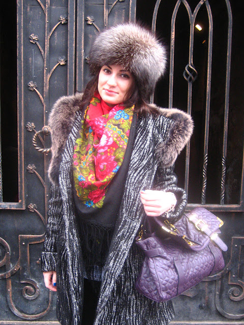 Sequins, Bracelets and Russian Scarf