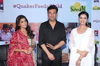 Shriya Saran and Meenakshi Dixit Pos at Quaker Feed A Child Campaign  0016.jpg