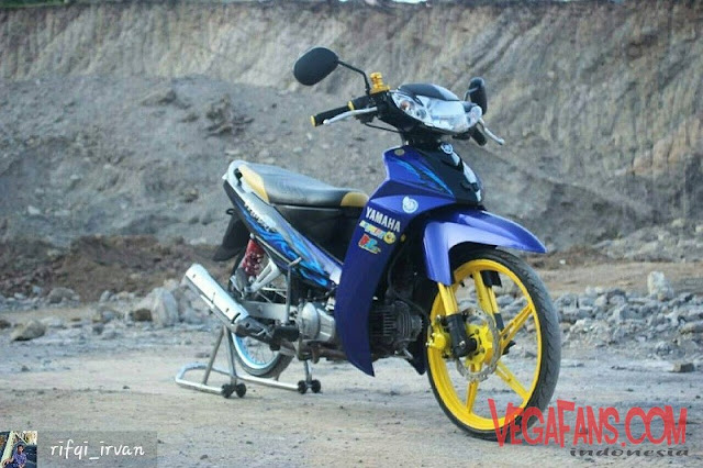Modifikasi Vega R New Biru Modif Standar Ban Racing