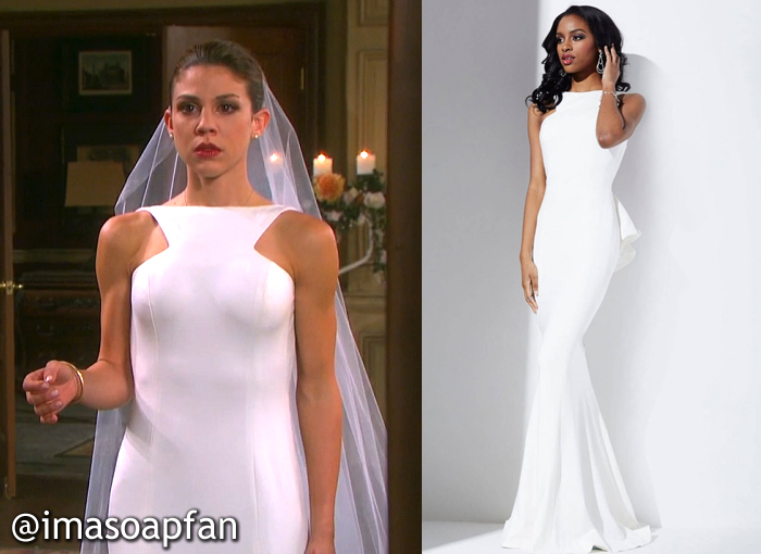 Abigail Devereaux's Wedding Dress - Days of Our Lives, Season 51, Episode 03/15/16