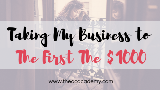 Taking My Business to The First It's $1000 | Planning