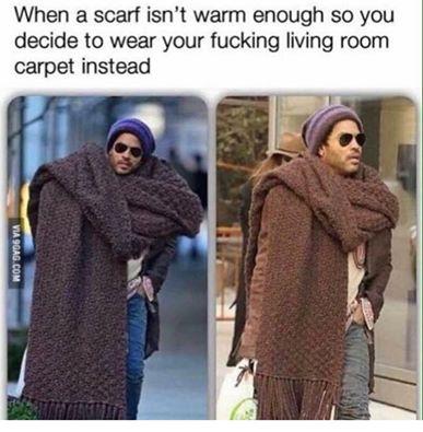 Wear your living room carpet instead