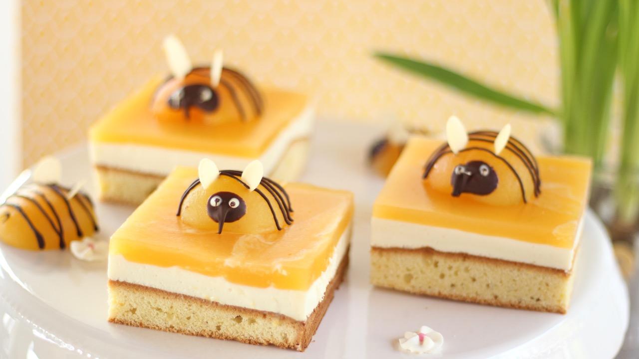 Bienenkuchen. Bienentorte. Rezept mit Video.