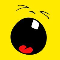 Smiley Gritando boca bem aberta com um dente só