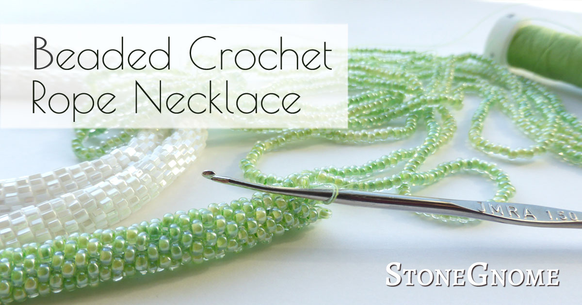 Beaded Crochet Rope Necklace