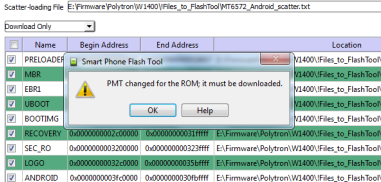 "Mengatasi ""PMT changed for the ROM"""