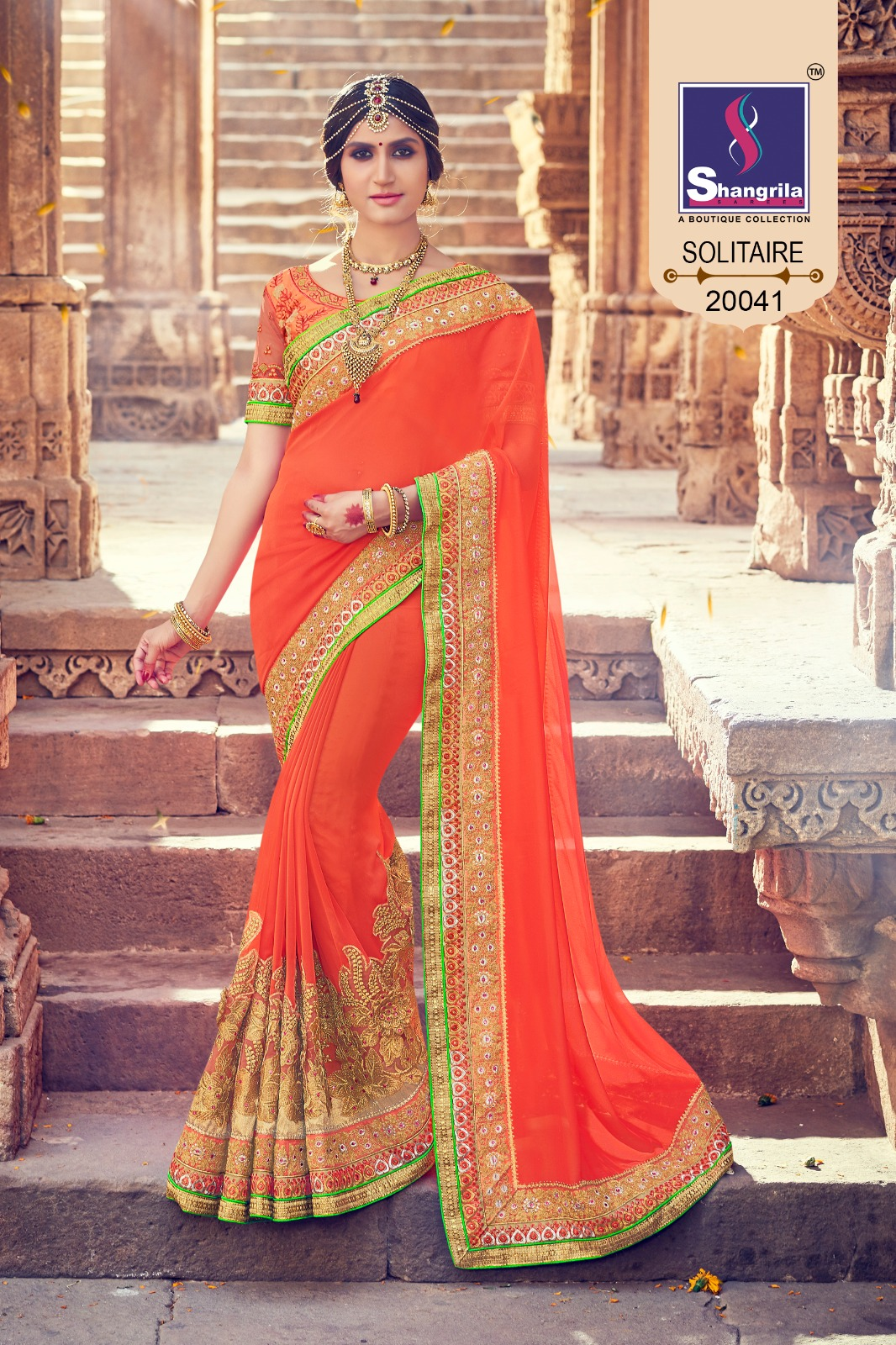 Solitare – Exclusive Wedding Collection With Embroidery Work And Elegant Saree