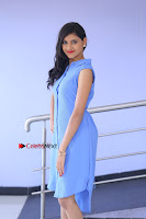 Telugu Actress Mounika UHD Stills in Blue Short Dress at Tik Tak Telugu Movie Audio Launch .COM 0007.JPG