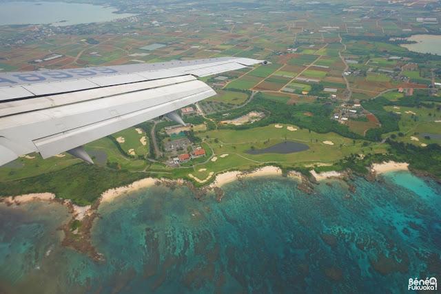 飛行機から見た宮古島