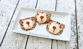 My Epicurean Adventures - Bear Pizzas for Lunch #lunchboxideas #lunchboxfun