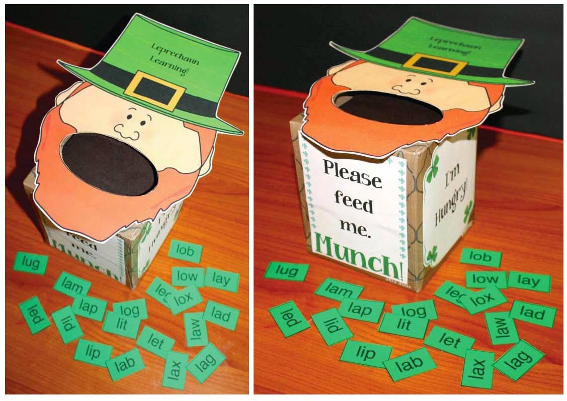 Classroom Freebies March Themed Cvc Packet